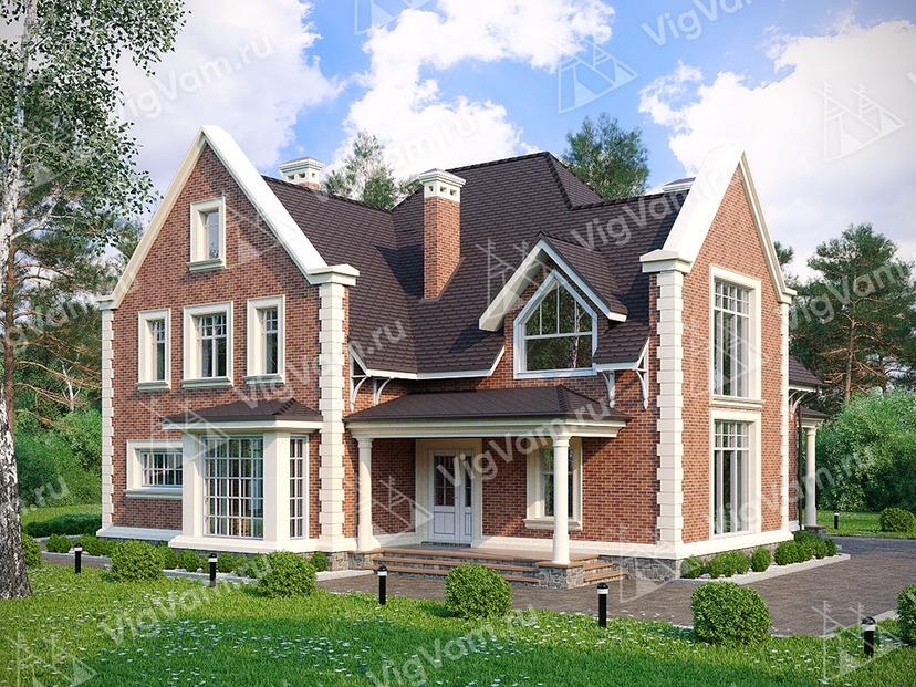 """Каркасный дом с 3 спальнями и сауной V263 """"Филадельфия"""""""