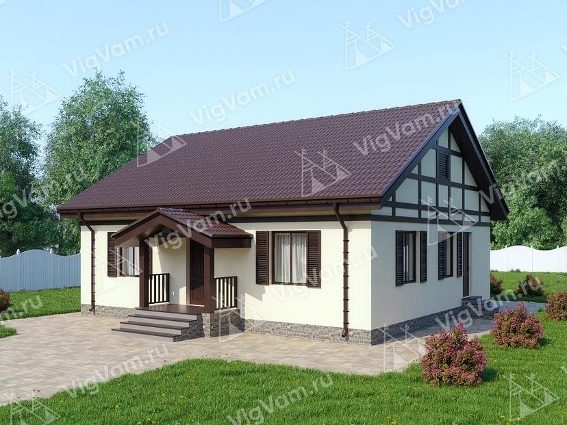 """Каркасный дом с 3 спальнями V285 """"Ориндж"""""""