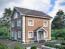 """Каркасный дом с 3 спальнями V262 """"Финикс"""""""