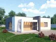 """Каркасный дом с плоской крышей V282 """"Оушенсайд"""""""