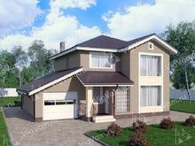 """Каркасный дом с гаражом V281 """"Раунд Рок"""""""