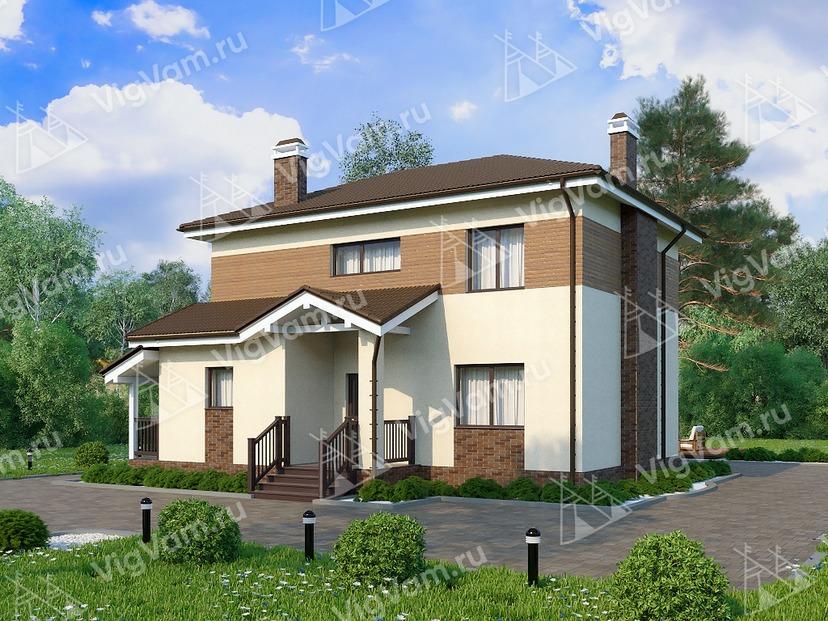 """Каркасный дом с 3 спальнями V258 """"Форт Уэйн"""""""
