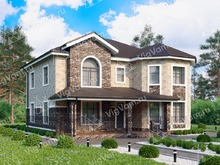 """Каркасный дом с эркером V257 """"Форт-Лодердейл"""""""