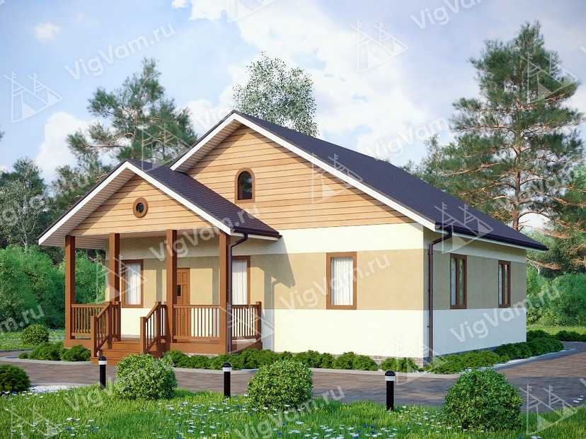"Каркасный дом одноэтажный V243 ""Алабама"""