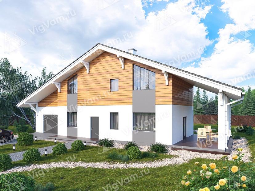 """Каркасный дом с мансардой и 3 спальнями V274 """"Роузвилл"""""""