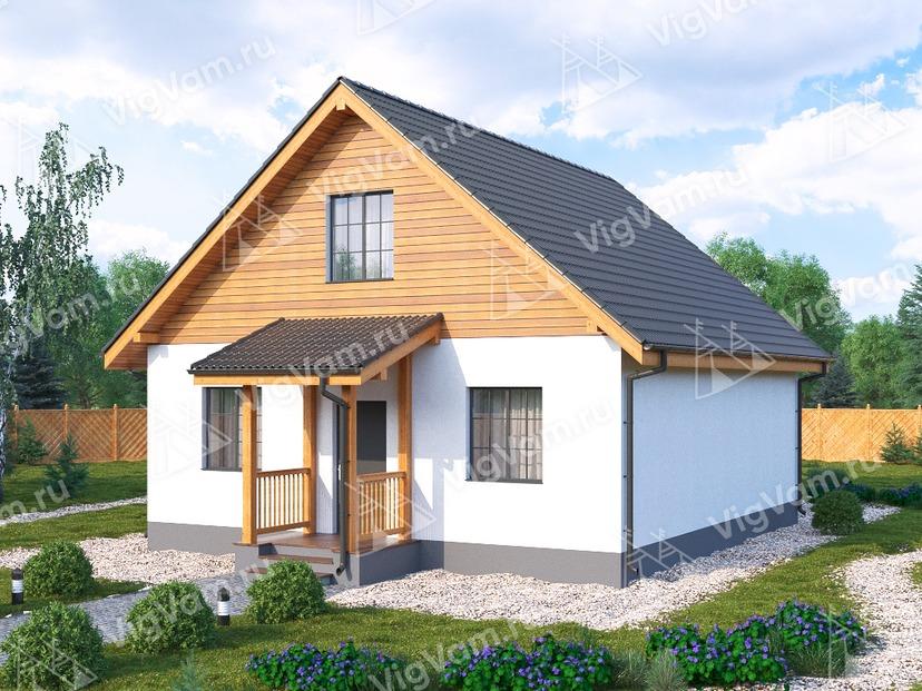 """Каркасный дом с мансардой и 3 спальнями V273 """"Рочестер"""""""