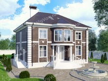 """Каркасный дом с эркером V272 """"Уилмингтон"""""""