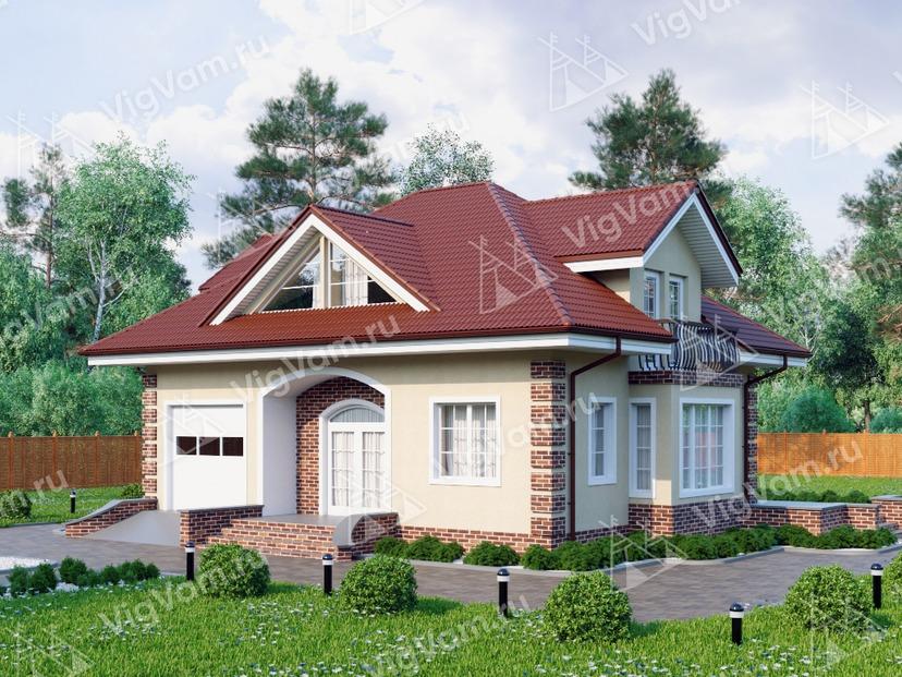 """Каркасный дом с 3 спальнями и гаражом V179 """"Кингман"""""""
