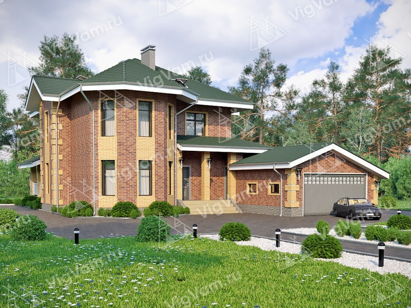 "Каркасный дом с гаражом на 2 авто V161 ""Давис"""