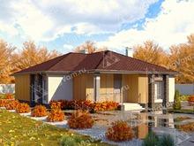 """Каркасный дом с террасой V219 """"Нью-Джерси"""""""