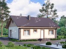 """Каркасный дом с террасой V177 """"Сиерра Виста"""""""