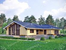 """Каркасный дом с гаражом на 2 машины V176 """"Винслоу"""""""