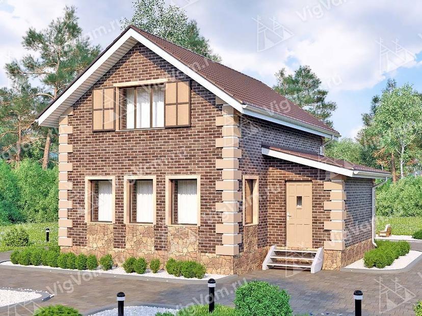 """Каркасный дом с мансардой V160 """"Гриннелл"""""""