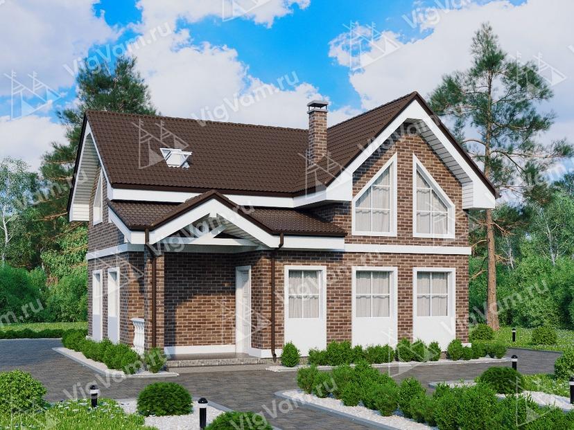 """Дом из керамического блока с террасой VK240 """"Калифорния"""""""