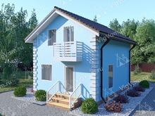 """Каркасный дом с мансардой и 3 спальнями V157 """"Белфаст"""""""