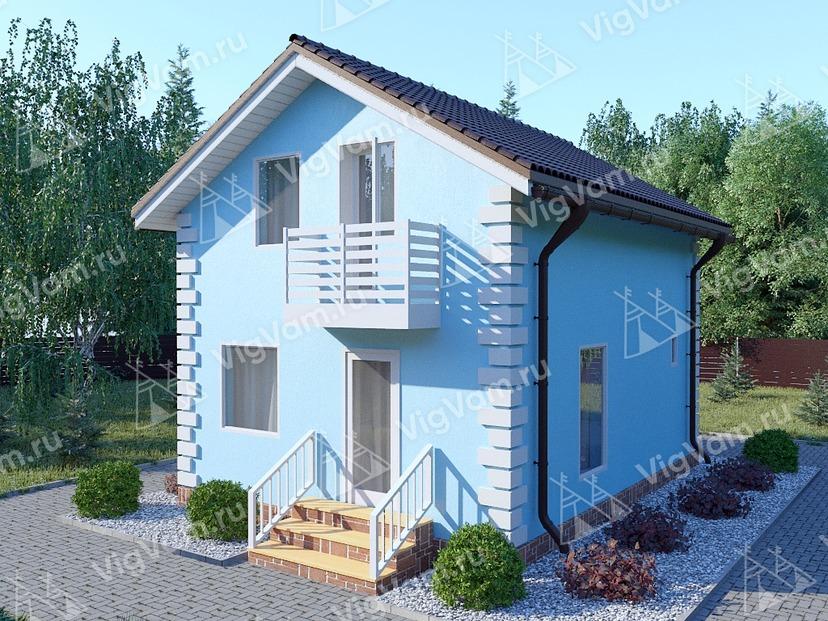 """Дом из керамического блока с мансардой и 3 спальнями VK157 """"Белфаст"""""""