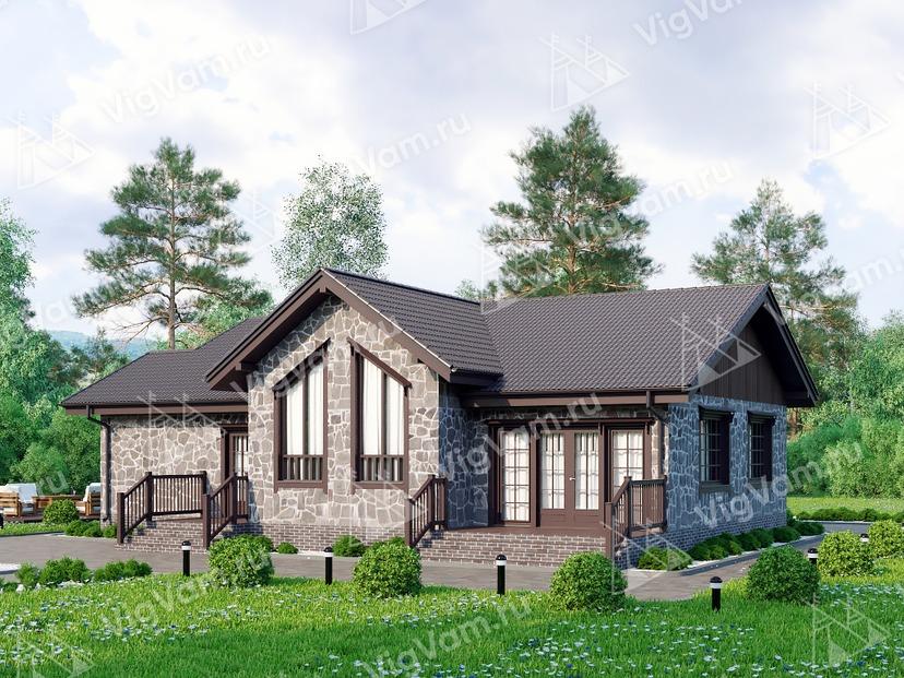 """Каркасный дом с 3 спальнями V201 """"Бессемер"""""""