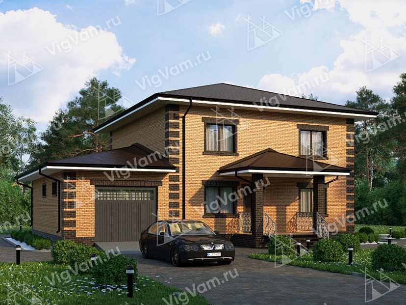 """Каркасный дом с гаражом V200 """"Цлантон"""""""