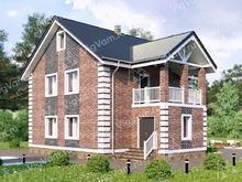 """Каркасный дом с балконом и мансардой V156 """"Биддефорд"""""""