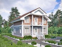 """Каркасный дом с 3 спальнями V175 """"Бентон"""""""