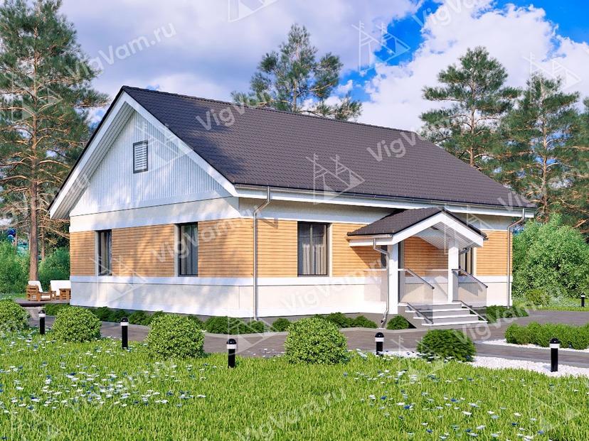 """Каркасный дом с 3 спальнями и котельной V154 """"Эллсворт"""""""