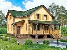 """Каркасный дом с мансардой и террасой V153 """"Хоултон"""""""