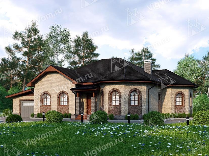 """Каркасный дом с гаражом и 3 спальнями V195 """"Флоренце"""""""