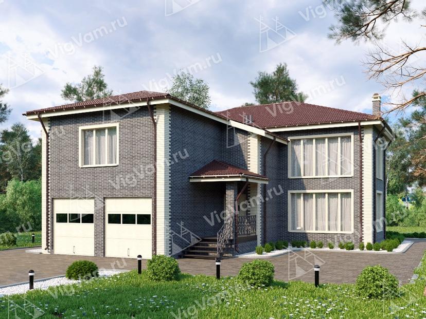 """Каркасный дом с гаражом на 2 машины V211 """"Юта"""""""
