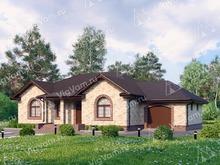 """Каркасный дом с гаражом V237 """"Флорида"""""""