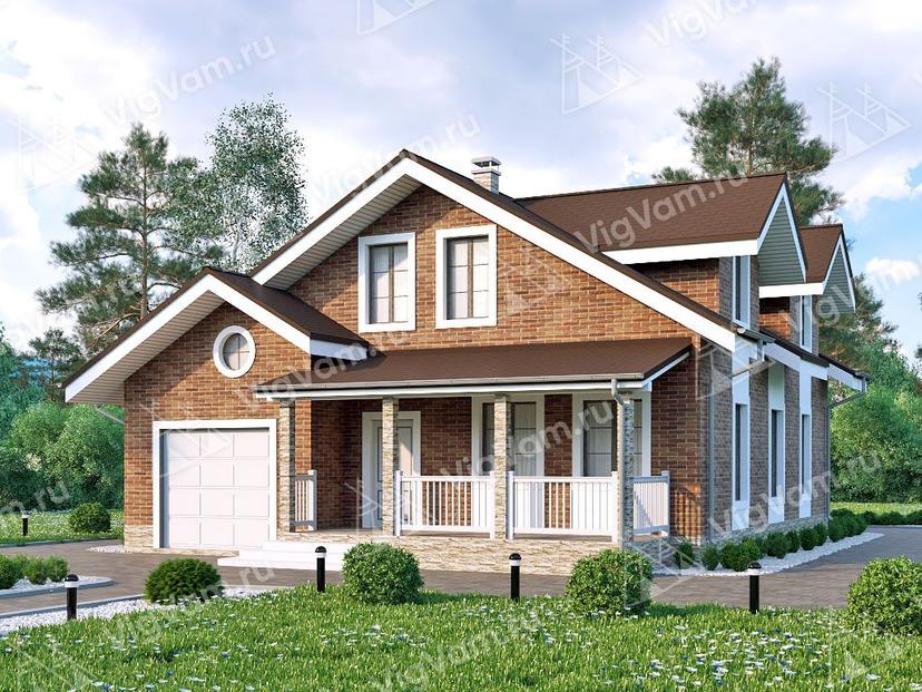 """Каркасный дом с гаражом и 4 спальнями V170 """"Моррилтон"""""""