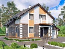 """Каркасный дом с гаражом и 3 спальнями V149 """"Данбур"""""""