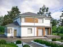 """Каркасный дом с террасой V206 """"Клэр"""""""