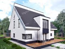 """Каркасный дом с мансардой и террасой V147 """"Хамден"""""""