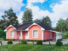 """Каркасный дом с 3 спальнями и террасой V235 """"Гавайи"""""""
