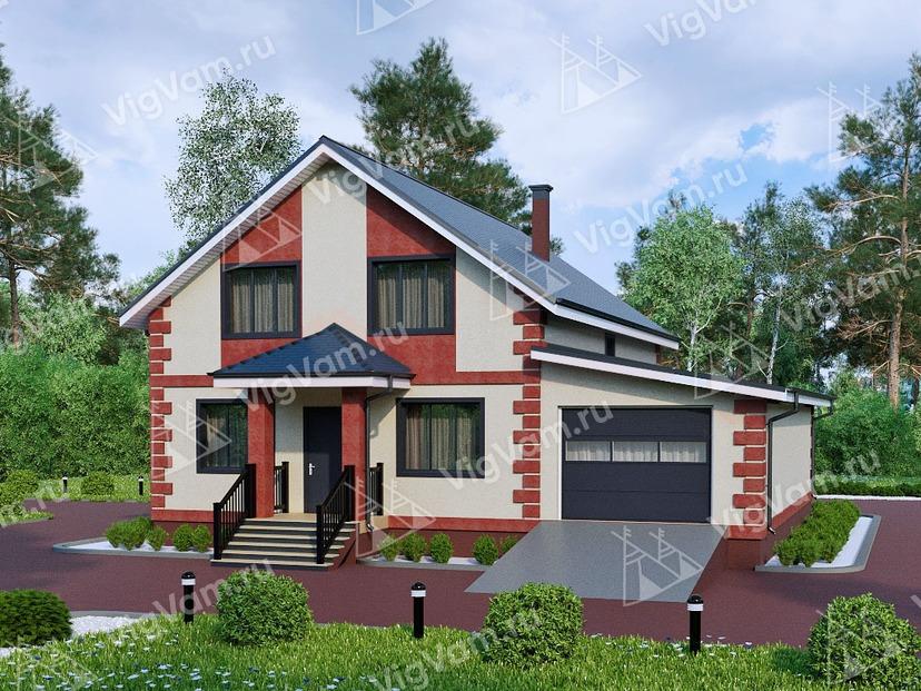 """Каркасный дом с гаражом на 2 машины V190 """"Опелика"""""""