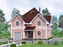 """Каркасный дом с гаражом V187 """"Селма"""""""