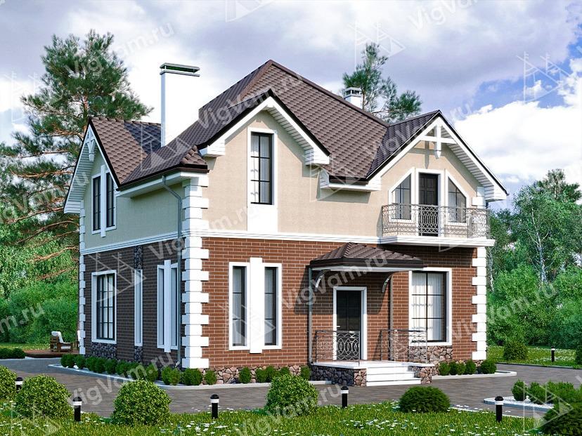 """Каркасный дом с мансардой и 3 спальнями V224 """"Миннесота"""""""