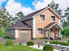 """Каркасный дом с гаражом V167 """"Антиоч"""""""
