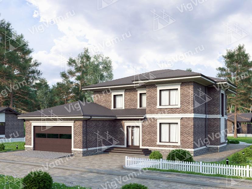 """Каркасный дом с гаражом на 2 машины V203 """"Аннистон"""""""