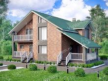 """Каркасный дом с сауной и 3 спальнями V166 """"Белмонт"""""""
