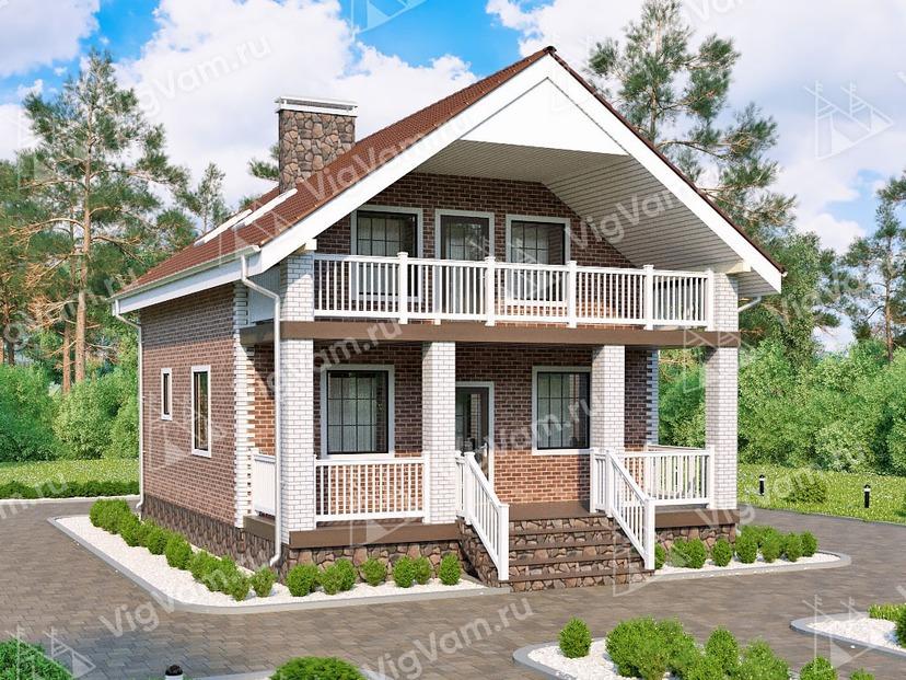 """Каркасный дом с мансардой V165 """"Бреа"""""""