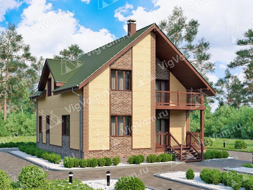 """Каркасный дом с 3 спальнями и гостевой V164 """"Цармел"""""""