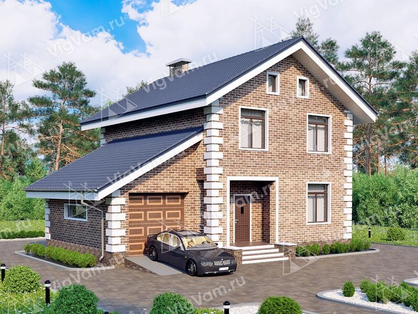 "Каркасный дом с гаражом V163 ""Чицо"""