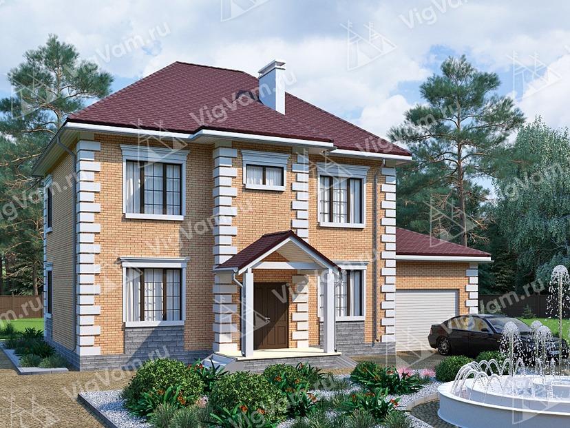 """Каркасный дом с гаражом V221 """"Невада"""""""