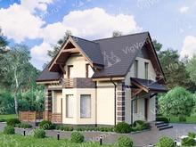 """Каркасный дом с эркером и 3 спальнями V180 """"Глобе"""""""