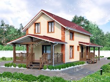 "Каркасный дом для узкого участка V162 ""Цомптон"""