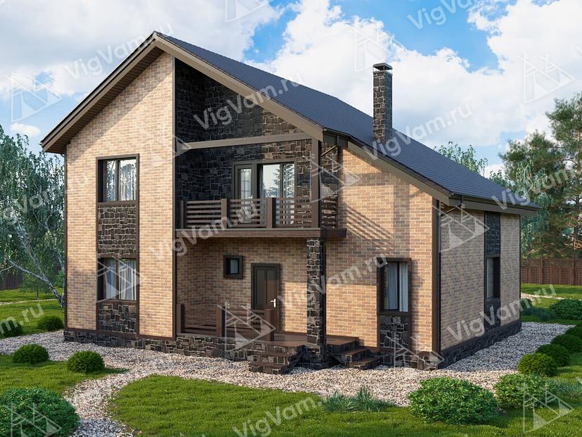"""Каркасный дом с 3 спальнями V119 """"Монтцлаир"""""""