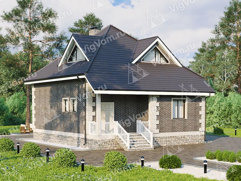 """Каркасный дом с мансардой с 3 спальнями V118 """"Морристоун"""""""