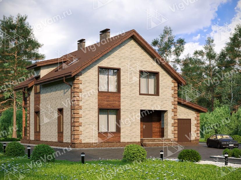 """Каркасный дом с 3 спальнями и гаражом V089 """"Нью Виндсор"""""""