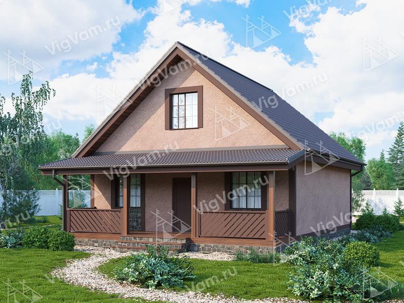 """Каркасный дом с 3 спальнями V116 """"Ридгевуд"""""""